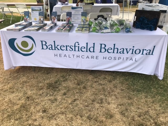 Bakersfield Behavioral Healthcare Hospital booth