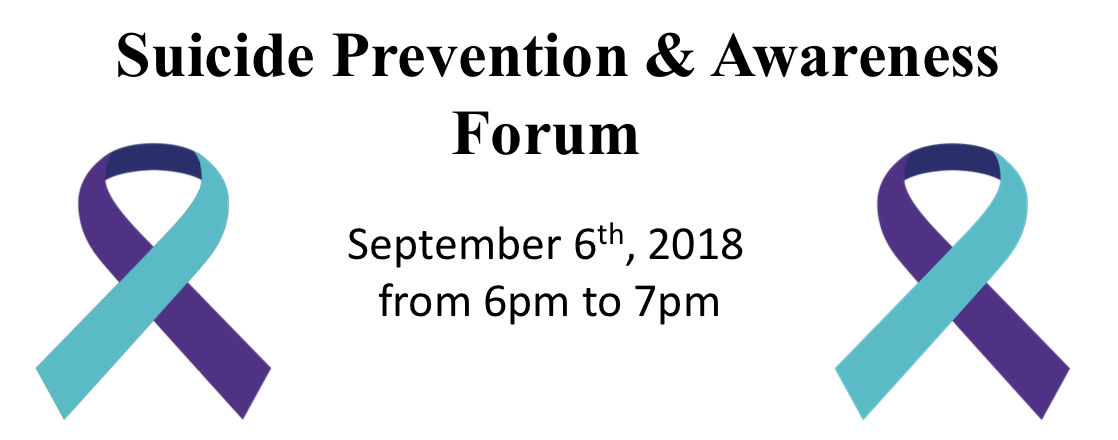 Suicide prevention & awareness forum